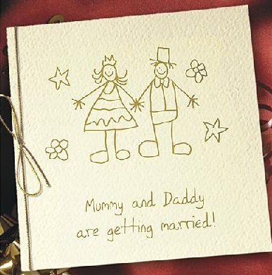 mommy & daddy are getting married - modern wedding invitation