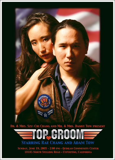 Top Gun (Top Groom) wedding invitation