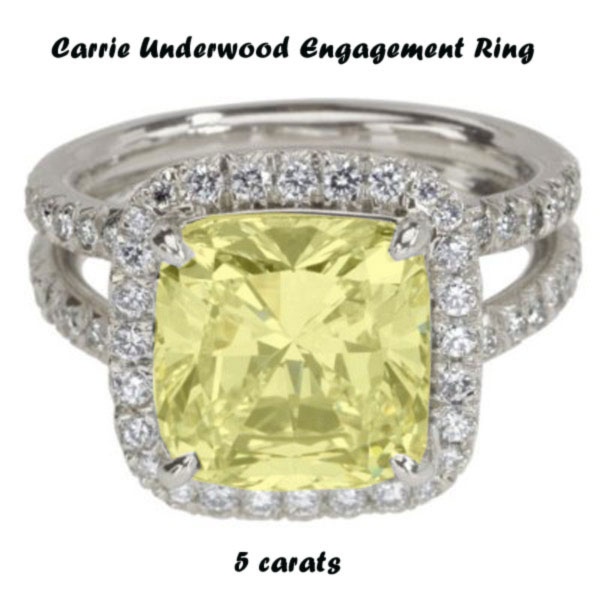 carrie underwood engagement ring size