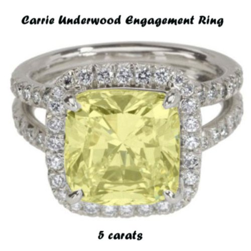 carrie underwood engagement ring 5 carats