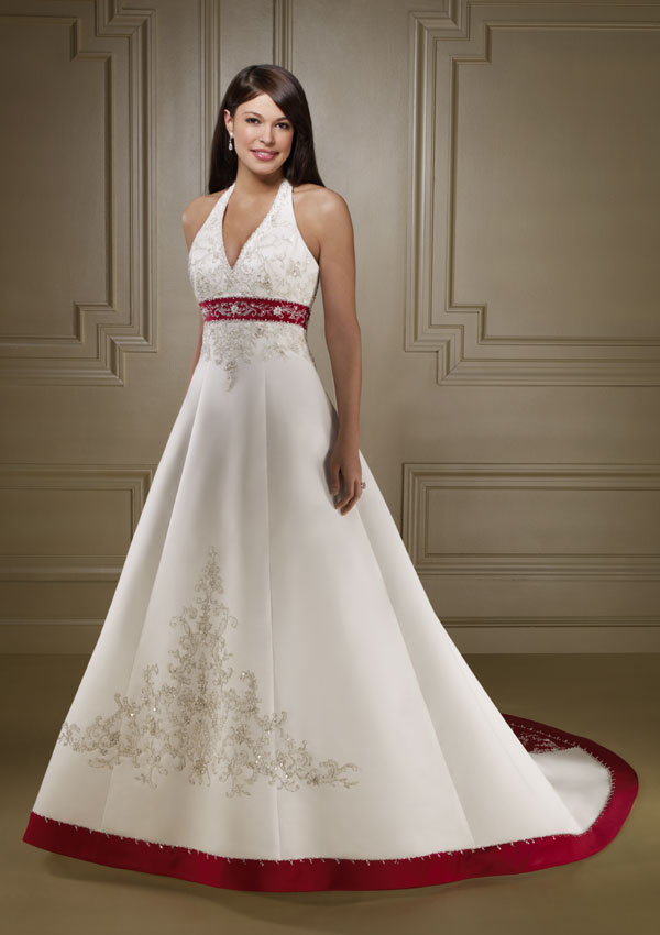 wedding dresses with color impression