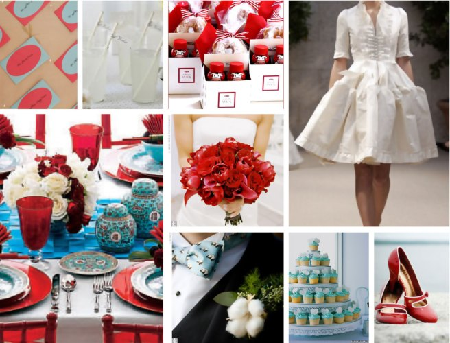 Wedding Inspiration board red white