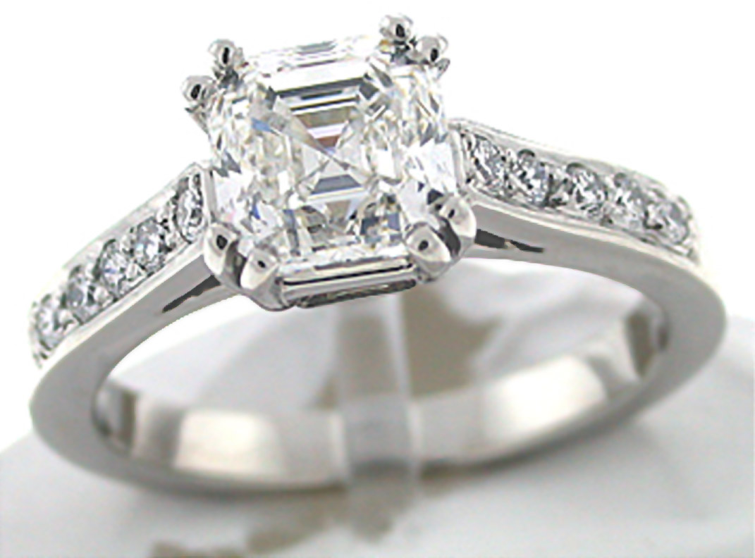 asscher cut engagement rings are the hottest thing in. Black Bedroom Furniture Sets. Home Design Ideas