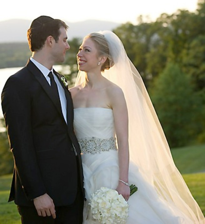 Chelsea Clinton wedding dress photos - Marc Tuxedo