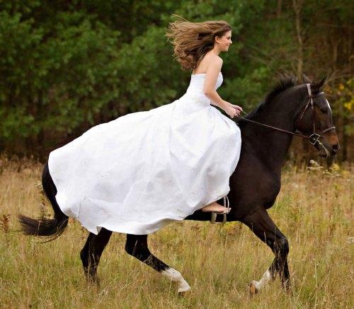 wedding bride horse riding trend of 2012