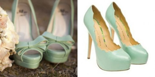 Mint Wedding Heels