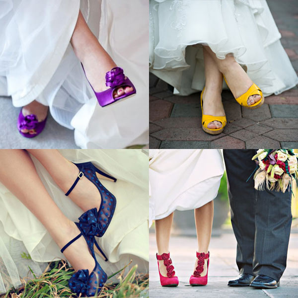Pop of Color Wedding Shoes - Purple, Yellow, Blue, and Magenta