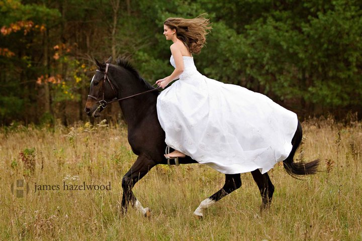 wedding bride horse riding trend of 2012