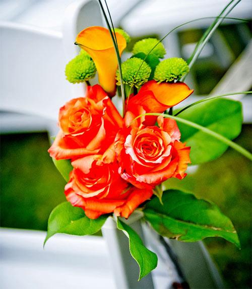 Wedding Chair Flower Decorations