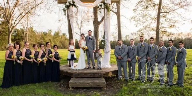 bridesmaids groomsman barn wedding venue